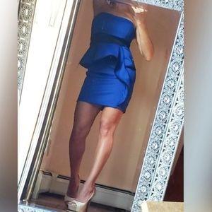 Strapless brand new peplum dress Sz.XS-S